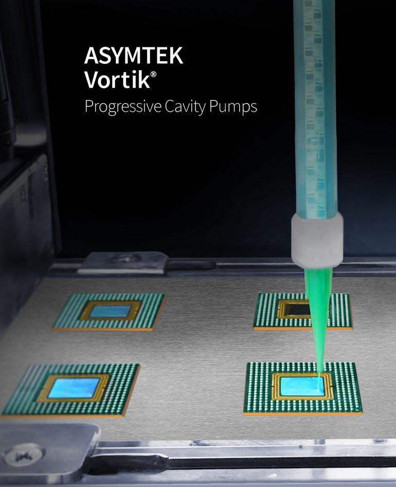 Vortik cavity pumps, Nordson Asymtek