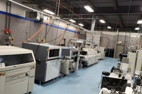 PCBX manufacturing line with Koh Young's SPI
