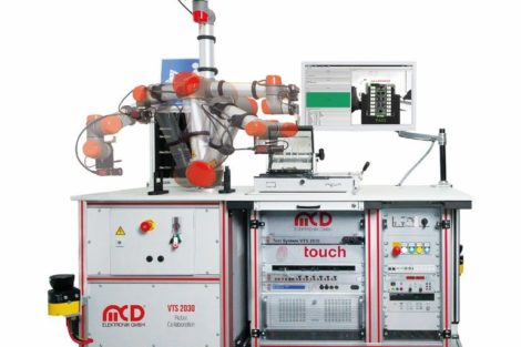 MCD Elektronik VTS 2030 with collaborating robot