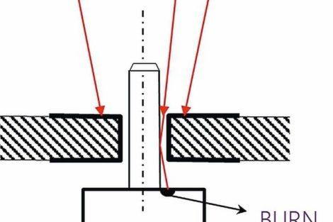 Seica vertical laser beam